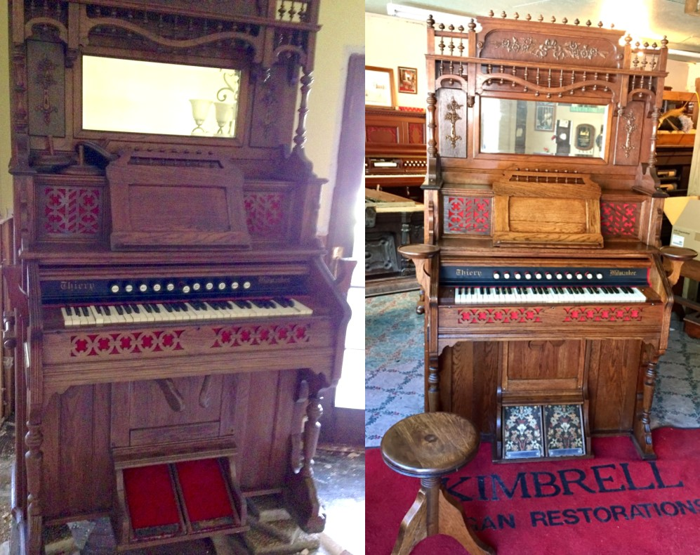 Before and After of Organ Damaged in Baton Rouge flood