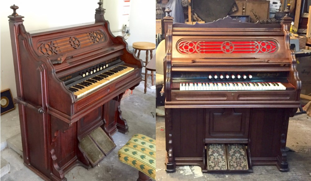 Before and After - organ from Houston