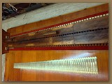 soundboard with cleaned reeds